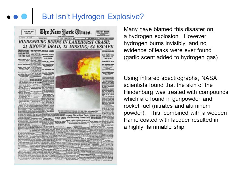 But Isn't Hydrogen Explosive