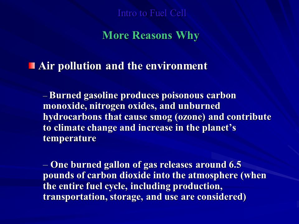 Air pollution and the environment