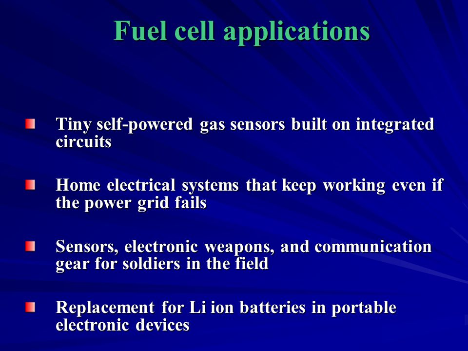 Fuel cell applications