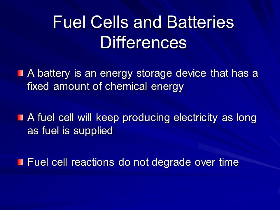 Fuel Cells and Batteries Differences