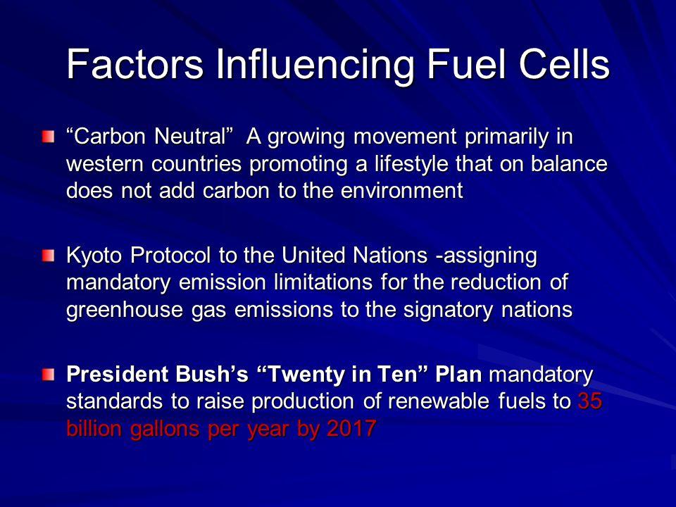 Factors Influencing Fuel Cells
