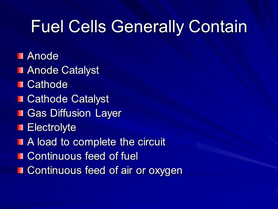 Fuel Cells Generally Contain