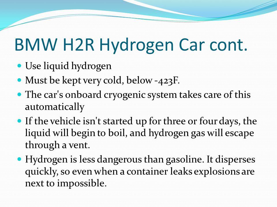 BMW H2R Hydrogen Car cont.