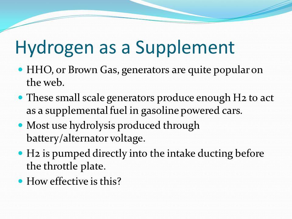 Hydrogen as a Supplement
