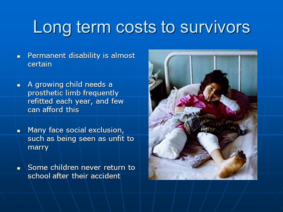 Long term costs to survivors