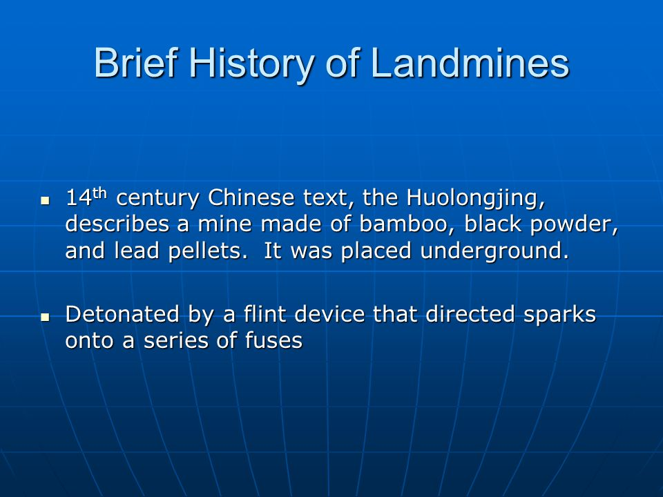 Brief History of Landmines