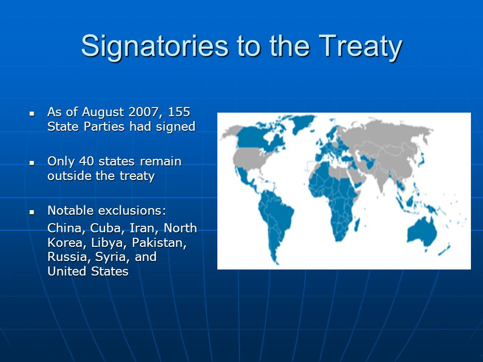 Signatories to the Treaty