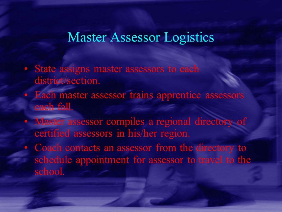Master Assessor Logistics