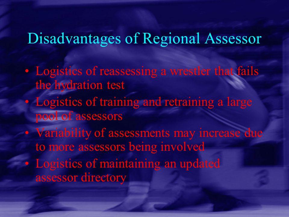 Disadvantages of Regional Assessor