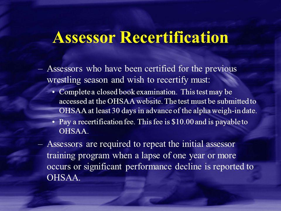 Assessor Recertification