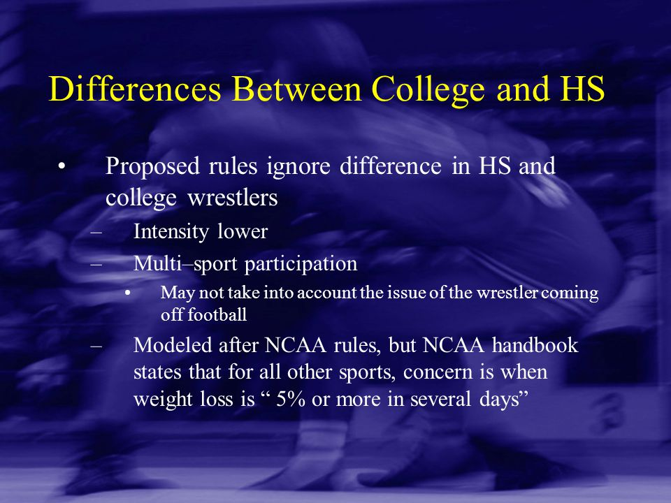 Differences Between College and HS