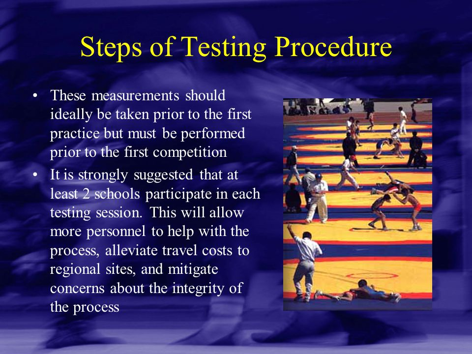 Steps of Testing Procedure