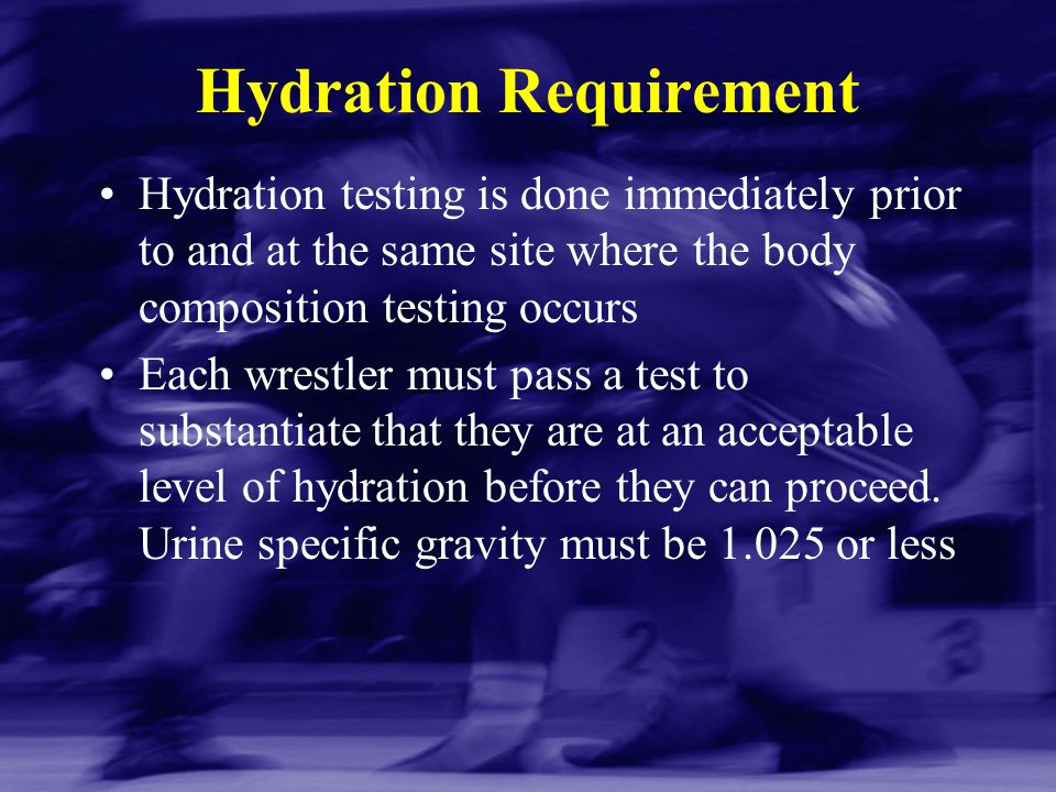Hydration Requirement