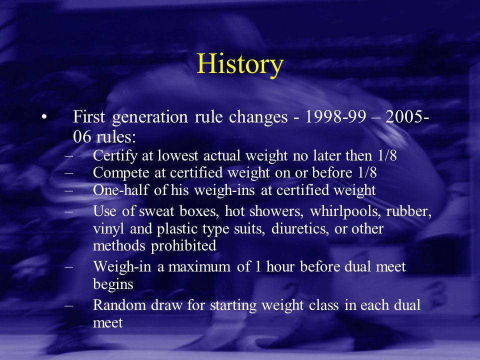 History First generation rule changes - 1998-99 – 2005-06 rules: