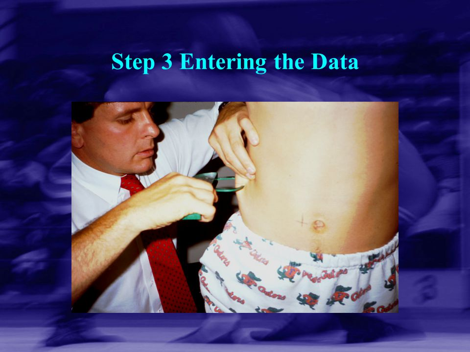 Step 3 Entering the Data