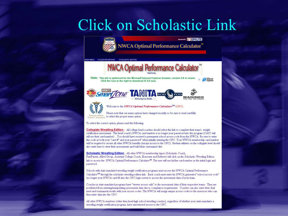 Click on Scholastic Link