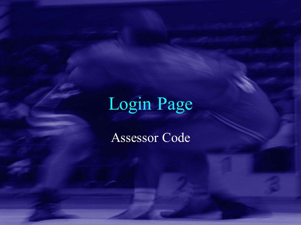 Login Page Assessor Code