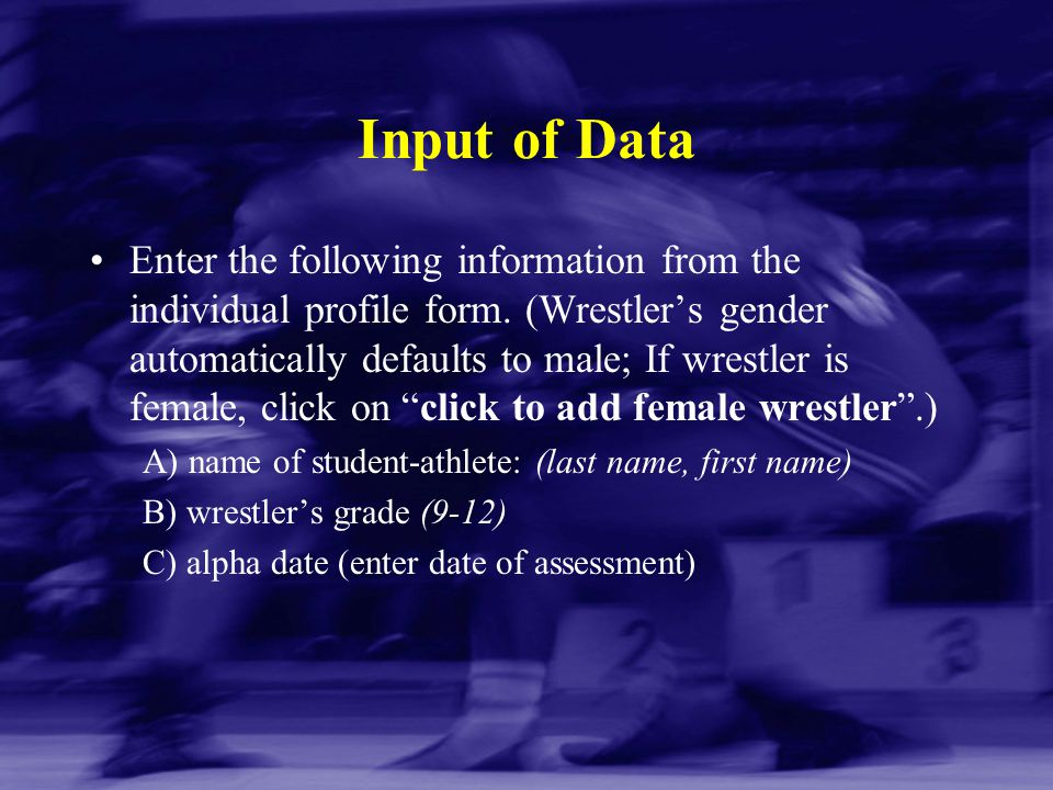 Input of Data