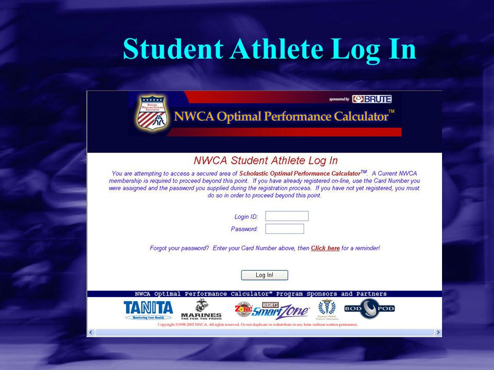 Student Athlete Log In