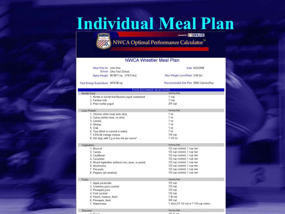 Individual Meal Plan