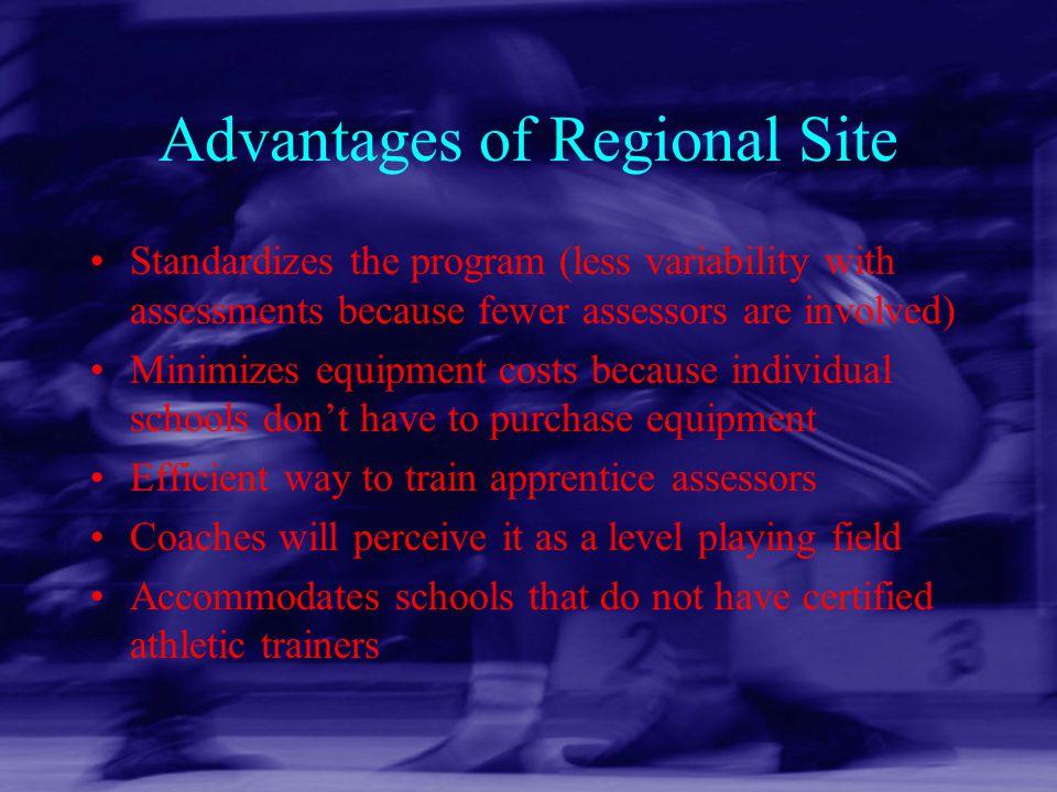 Advantages of Regional Site