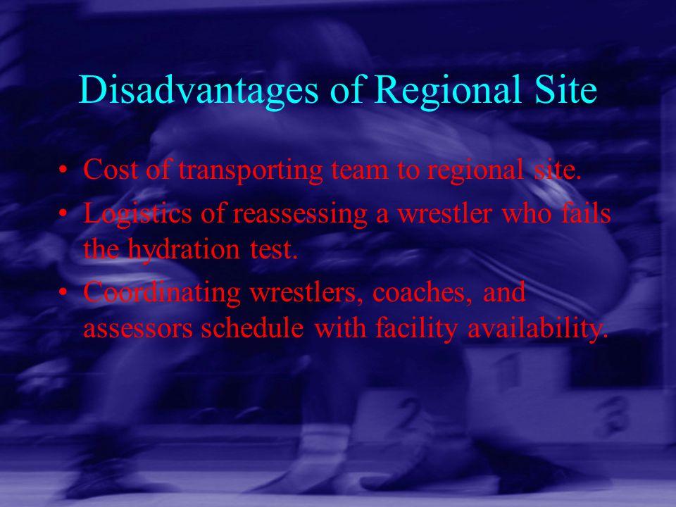 Disadvantages of Regional Site
