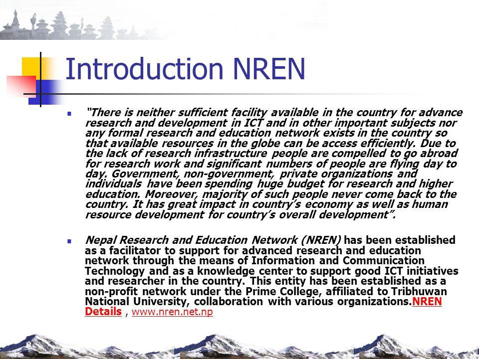 Introduction NREN