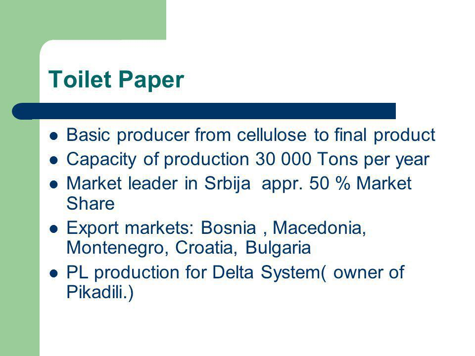Toilet Paper Basic producer from cellulose to final product