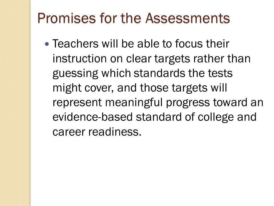 The assessments will include challenging performance tasks and innovative, computer-enhanced items that elicit complex demonstrations of learning and measure the full range of knowledge and skills necessary to succeed in college and 21st-Century careers.