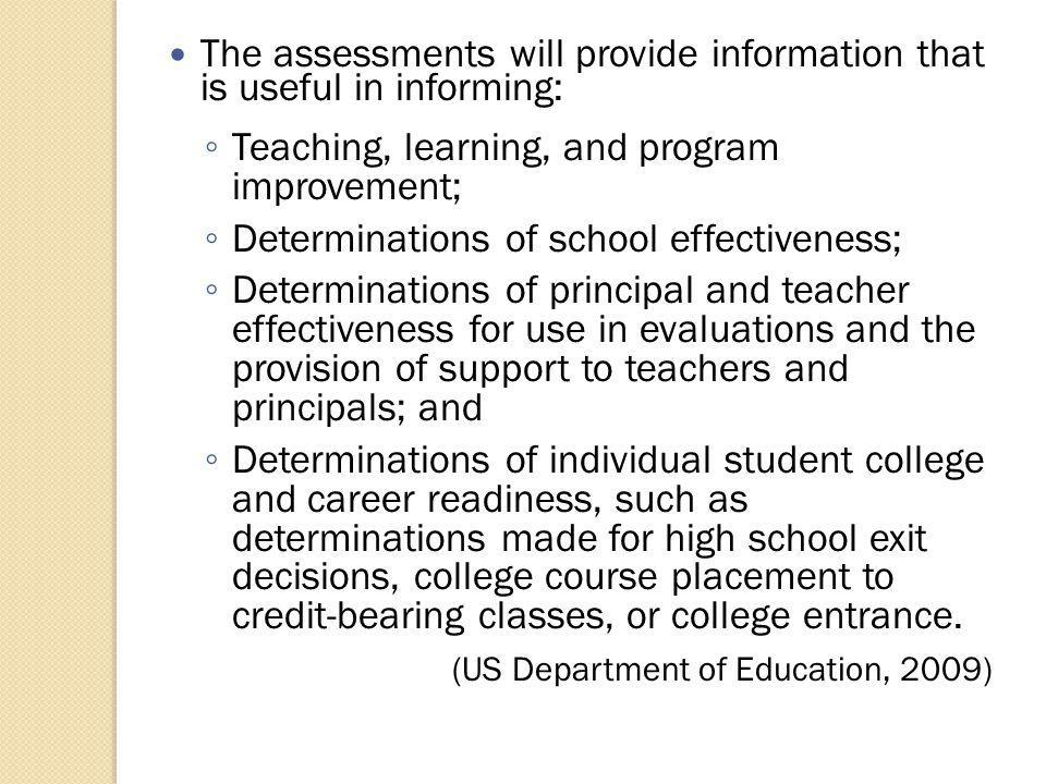 Just introducing new standards and assessments will not transform instructional practice.