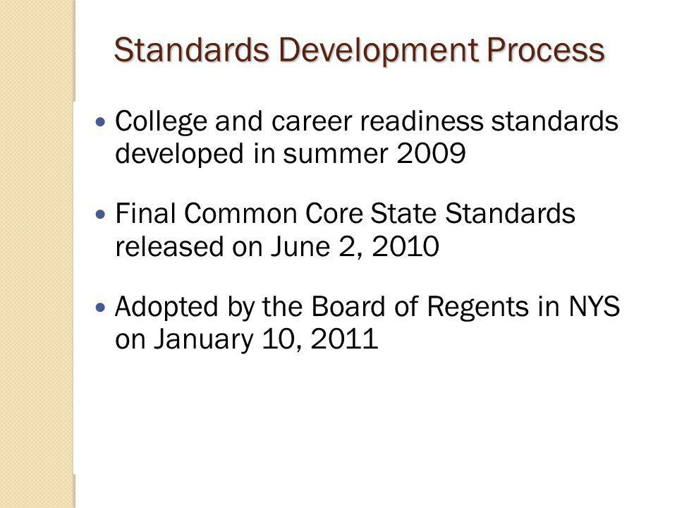 What are the Common Core State Standards (CCSS)