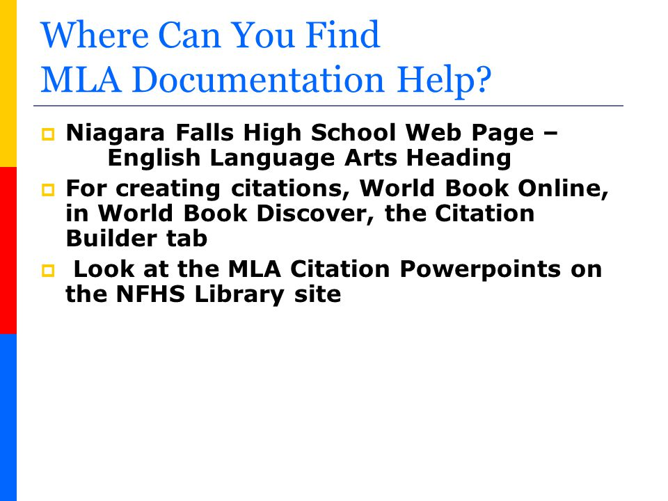 Where Can You Find MLA Documentation Help