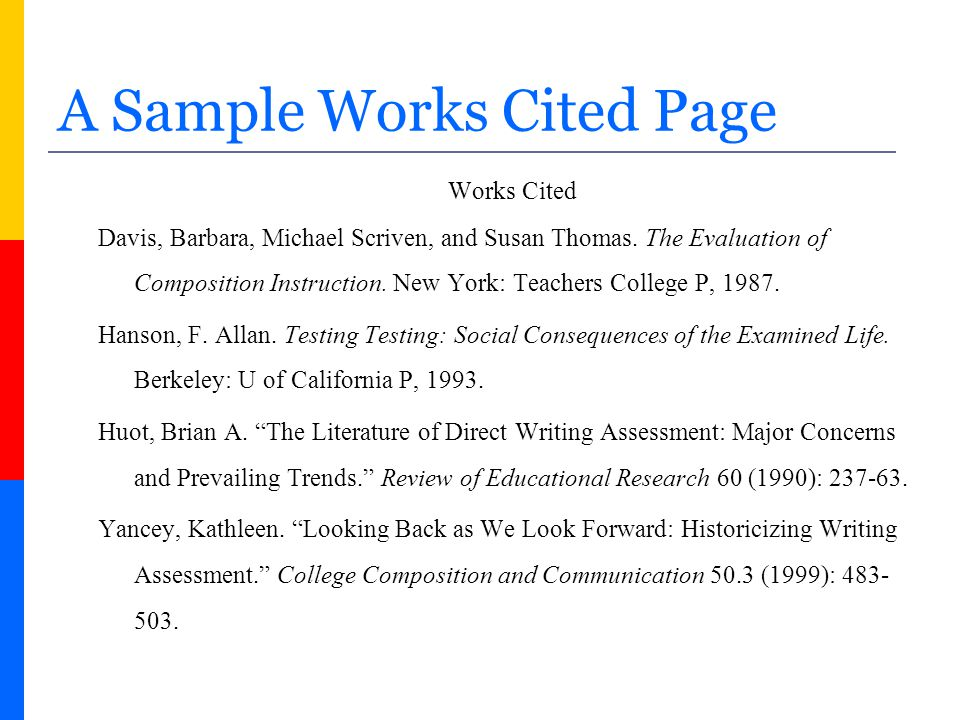 annotated work cited