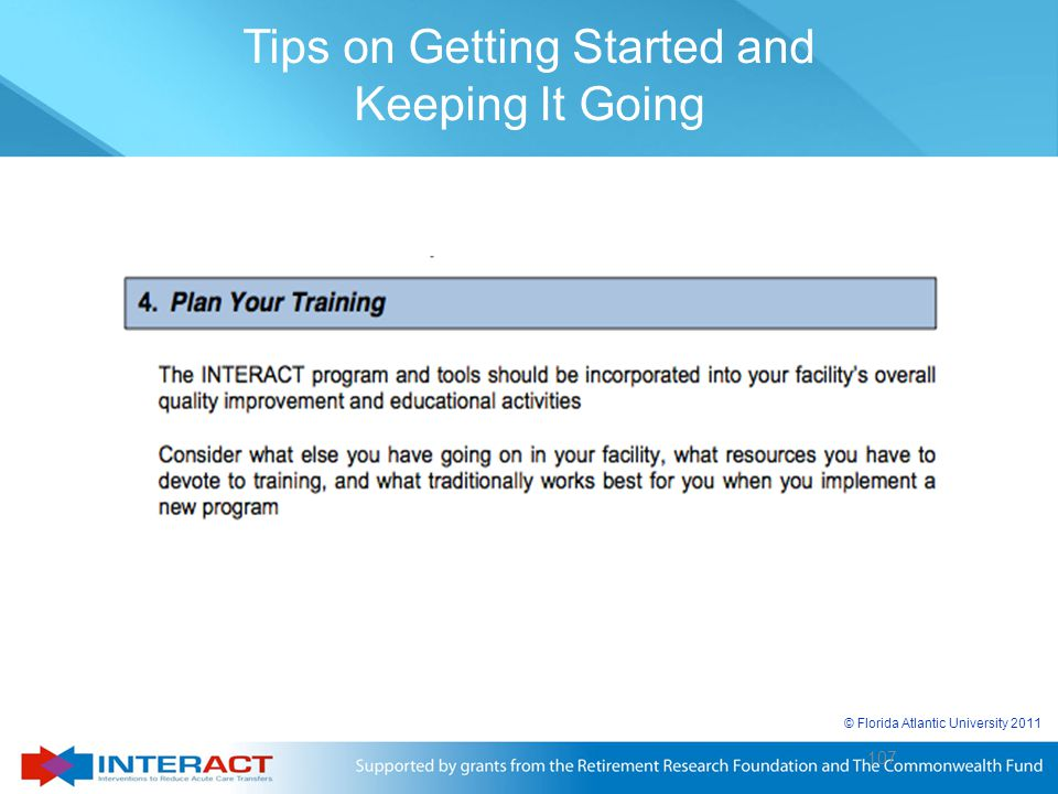 Tips on Getting Started and