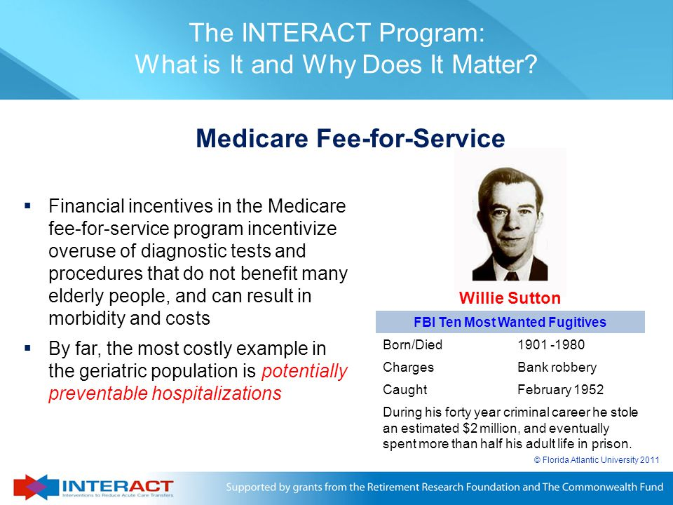 Medicare Fee-for-Service FBI Ten Most Wanted Fugitives