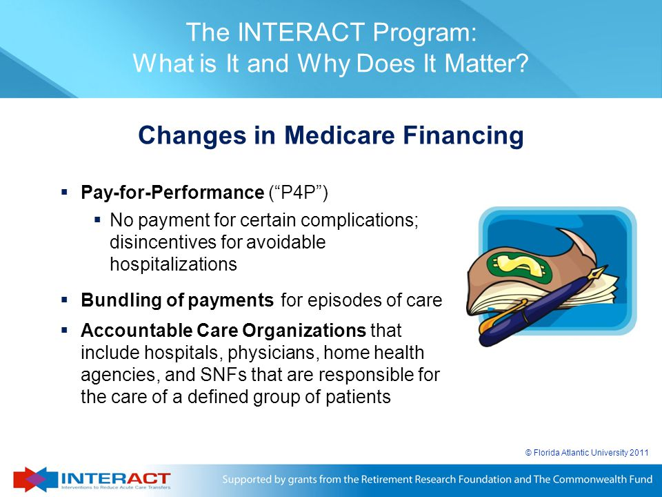 Changes in Medicare Financing