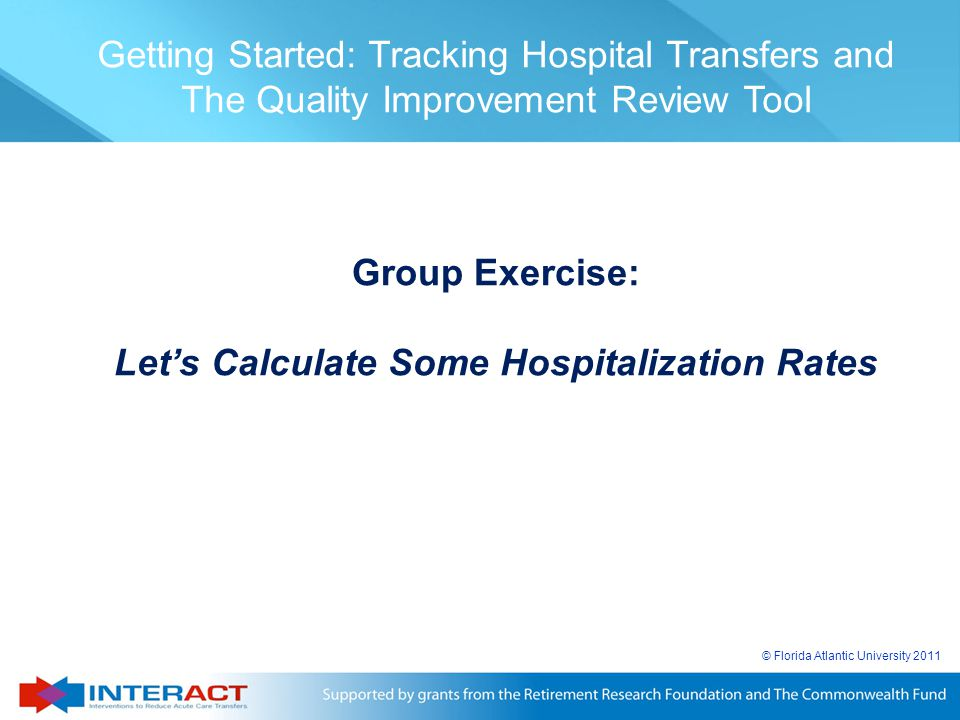 Let's Calculate Some Hospitalization Rates