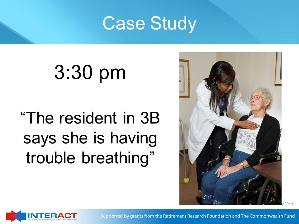 The resident in 3B says she is having trouble breathing