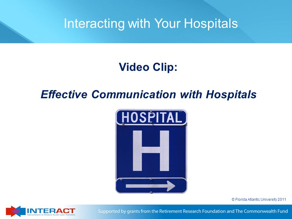 Effective Communication with Hospitals