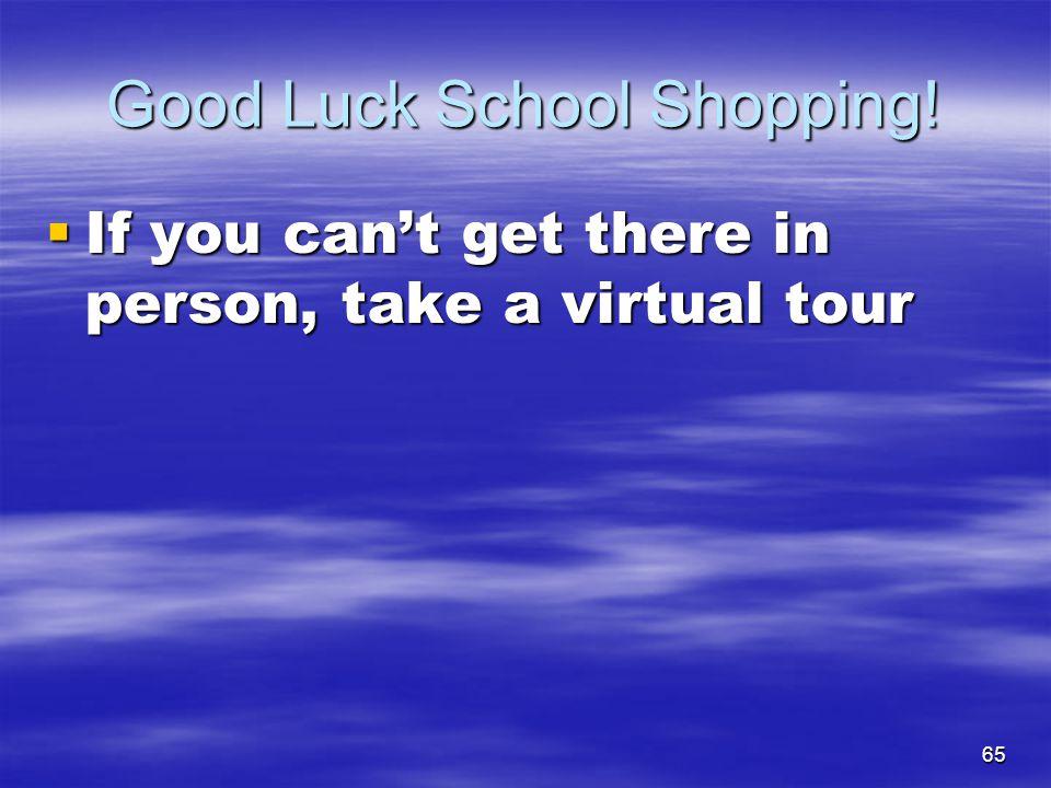 Good Luck School Shopping!