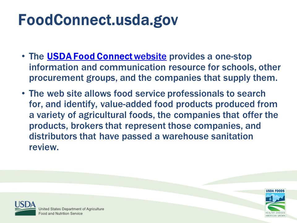 FoodConnect.usda.gov