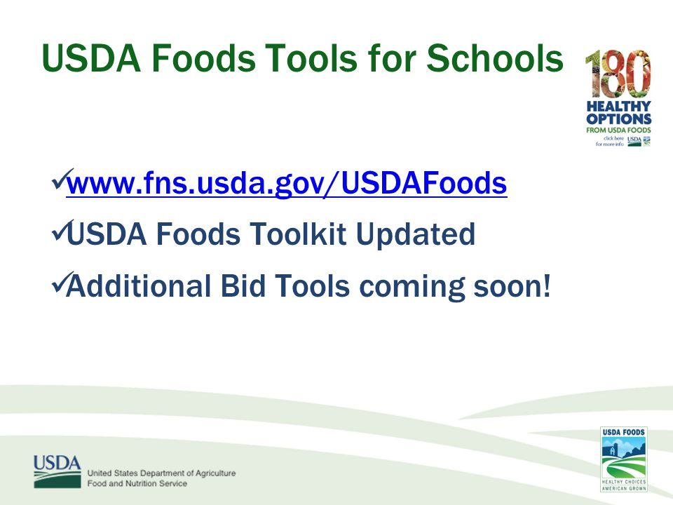 USDA Foods Tools for Schools