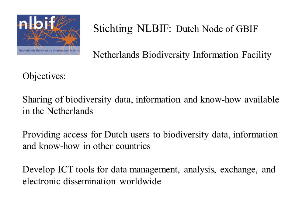 Stichting NLBIF: Dutch Node of GBIF