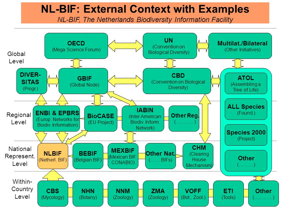 NL-BIF: External Context with Examples NL-BIF, The Netherlands Biodiversity Information Facility