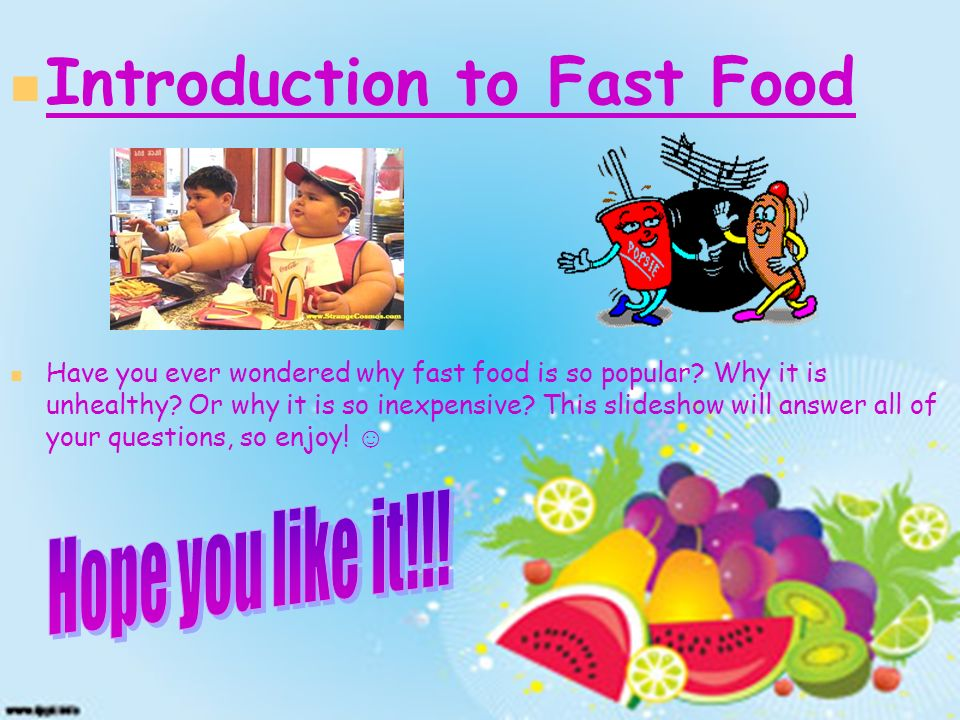 Introduction to Fast Food