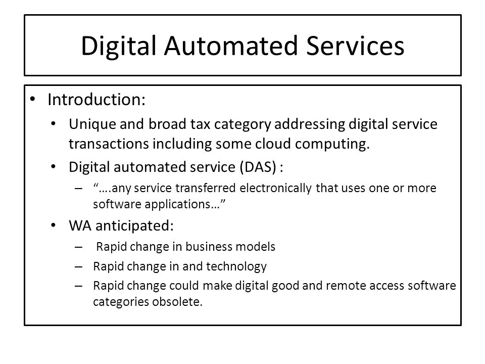 Digital Automated Services
