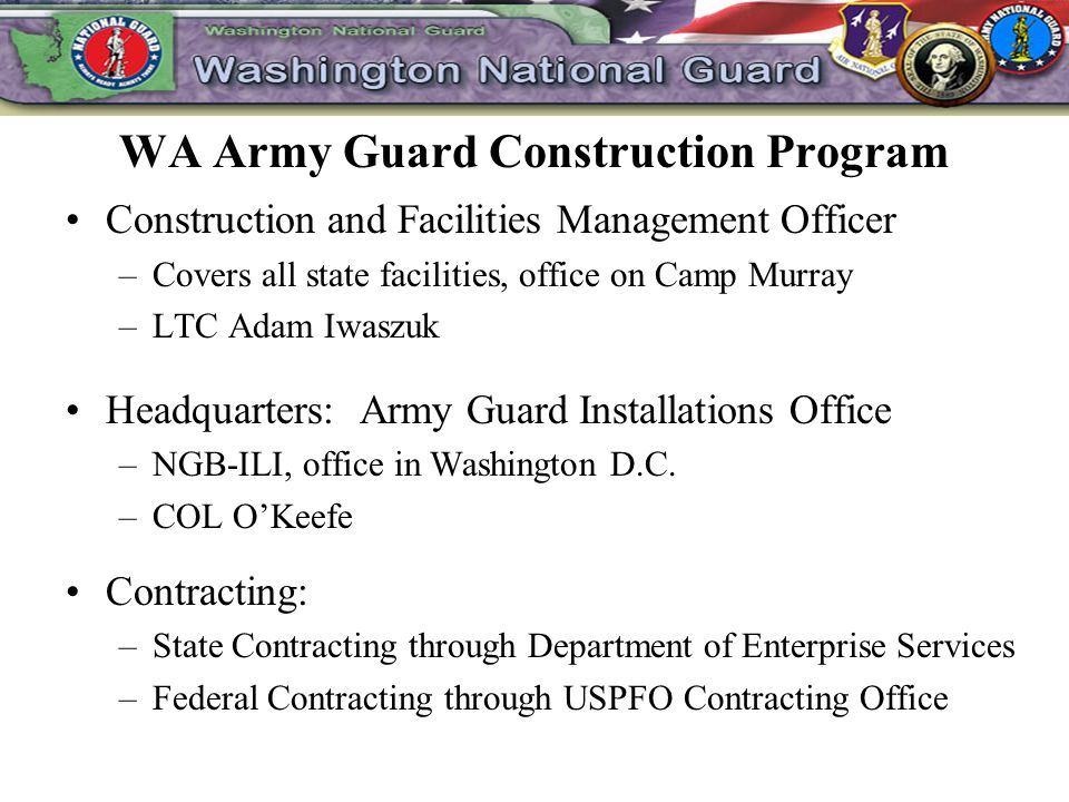 WA Army Guard Construction Program