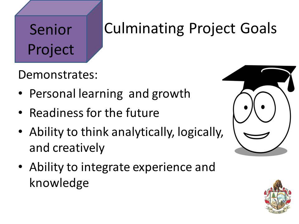 Culminating Project Goals