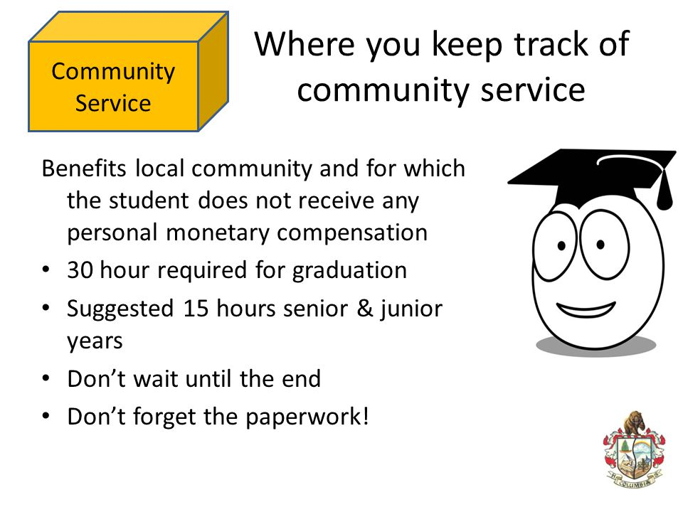 Where you keep track of community service