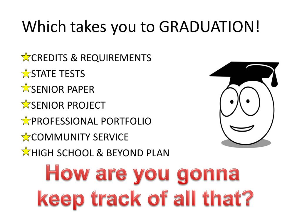 Which takes you to GRADUATION!